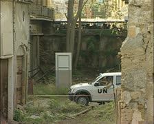 Buffer Zone, green line, Nicosia, Cyprus with UN Stock Footage