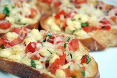 Tomato bruschetta Stock Photos
