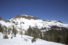 Sierra nevada snow ranges Stock Photos