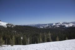 sierra nevada snow ranges - stock photo