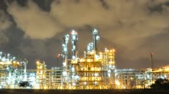 Night scene of Oil and Chemical Plant - Time Lapse Stock Footage