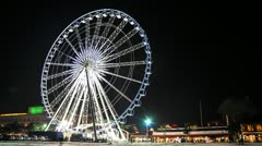 Ferris wheel on Night - Time lapse Stock Footage