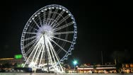 Stock Video Footage of Ferris wheel on Night - Time lapse