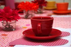 little girl's tea party - stock photo