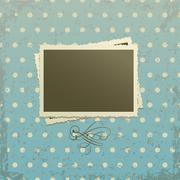 Photo frame on retro background Stock Illustration