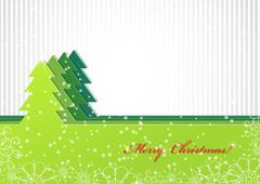 Christmas background with green fir-tree Stock Illustration