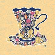 Teacup background Stock Illustration