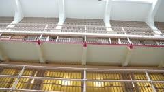 Prison jail cell tilt down 25p Stock Footage