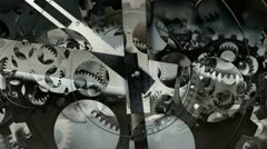 Clock face dials cogs time Stock Footage