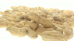 Multiple inshell peanuts zoom in 2 Stock Footage