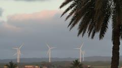 Wind Turbine Farm in Hawaii Stock Footage