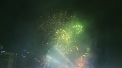 Australia Day fireworks (9) tilt down Stock Footage