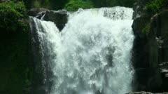 Bali Indonesia tropical waterfall closeup Stock Footage