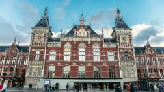 Amsterdam Centraal Stock Footage