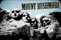 Mount Rushmore Postcard 1 Stock Illustration