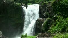 Waterfall Air Tegenunggan Bali Stock Footage