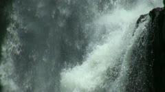 Fresh tropic waterfall closeup Bali Indonesia Stock Footage