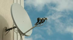 Satellite Television Dish - stock footage