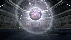 Earth in futuristic scene Stock Footage
