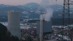 Slovenia landscape [Thermal power plant] Stock Footage