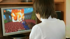 Child Playing Desktop Computer Games Stock Footage