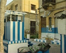 Greek Cypriot checkpoint, Buffer Zone, green line, Nicosia, Cyprus-JPEG ph Stock Footage