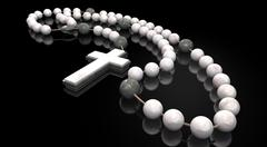 Stone rosary beads Stock Illustration
