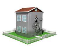 Stock Illustration of suburban safe house