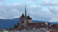 Geneva The St. Pierre Cathedral Stock Footage
