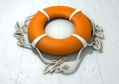 save the date lifebuoy - stock illustration