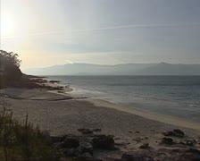 Evening sky at Costa Morte, the  Atlantic coast of Galicia Stock Footage
