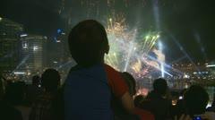 Australia Day fireworks slow motion (6) Stock Footage