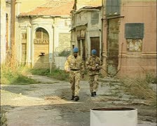 Cyprus Buffer Zone, green line, Nicosia, Cyprus with UN patrolling Stock Footage