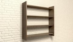 shelving unit on a wall perspective - stock illustration