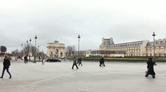 Musee du Louvre. Paris, France. Stock Footage