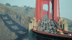 Golden Gate Bridge in San Francisco 24p commuter traffic cars Stock Footage
