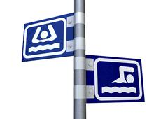 Sink or swim direction signs Stock Illustration