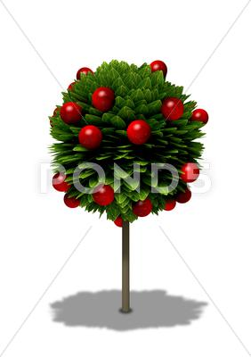 Stock Illustration of stylized apple tree