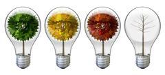 Stylized tree light bulbs Stock Illustration