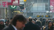 Stock Video Footage of Germany Stuttgart Crowds shoppers in Konigstrasse shopping street