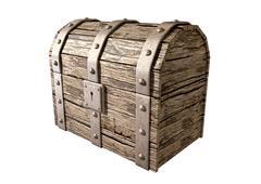 Treasure chest closed perspective Stock Illustration