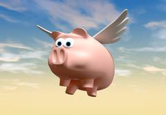 When pigs fly Stock Illustration