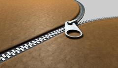 zipper three quarter perspective - stock illustration