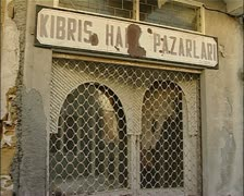 Old shop front in Nicosia, northern Cyprus Stock Footage