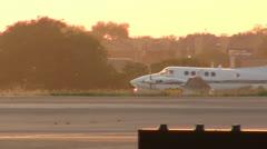 Beechcraft King Air Take Off Stock Footage