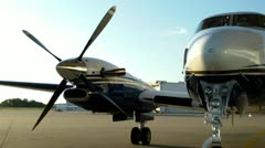 Beechcraft King Air Engine Start Stock Footage