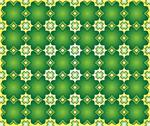 Stock Illustration of background of green quatrefoil