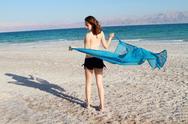 Girl at the beach Stock Photos