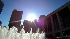 Slow motion Video of Lincoln Center Water Fountain - stock footage