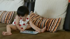 playing tablet - stock footage